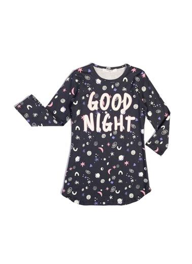 Roly Poly Rolypoly Good Night Kız Çocuk Karanlıkta Parlayan Gecelik Füme